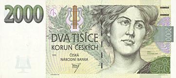 Czech Koruna (crown) CZK